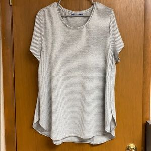 Grey and white tunic T-shirt